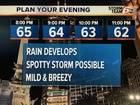Rain may impact your evening plans