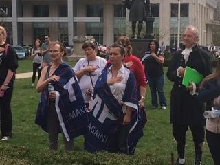 """PICS: """"MAGA"""" rally at Indiana Statehouse"""