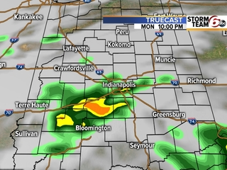 TIMELINE: Showers, storms tonight