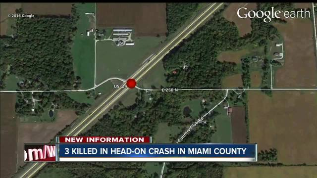 Three killed in head-on crash in Miami Co