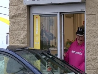 Customers surprise McDonald's worker in Lebanon