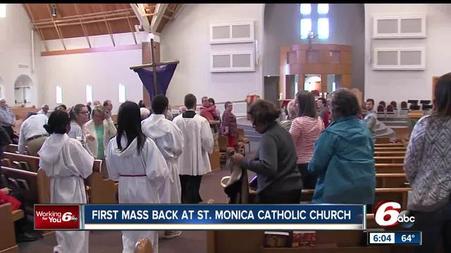 st  monica catholic church sanctuary reopens after 2015 fire
