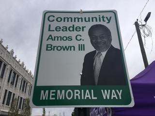 PHOTOS: Amos Brown road dedication party
