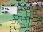 T'Storms develop tonight. Marginal severe threat