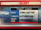 ALERT: Heavy rain threat overnight