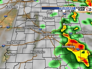 TIMELINE: More rain coming for central Indiana