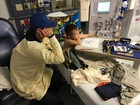 Rossi visits 'good luck charm' at Riley Hospital
