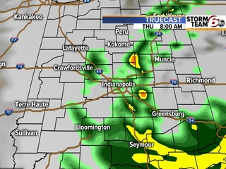 TIMELINE: Rain continues throughout morning