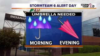 ALERT: Morning Showers - PM Clearing