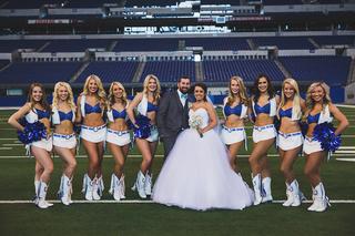 PICS: Colts fans marry at Lucas Oil Stadium