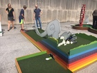 PHOTOS: Sneak peak at the IMA mini golf course