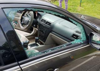 Windows shattered during vehicle break-ins