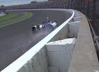Daly, Harvey crash in turn 3 at Indy 500
