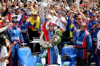 Takuma Sato celebrates Indy 500 win
