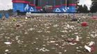 Trash, trash and more trash left after Indy 500