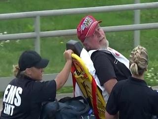 Photographer hit by crash debris at Indy 500