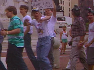 FROM 1990: Protesters mar first pride festival