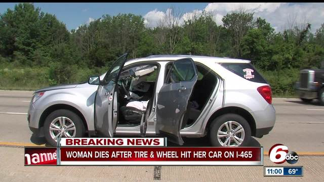 Woman Killed after Flying Tire Strikes Vehicle on I-465