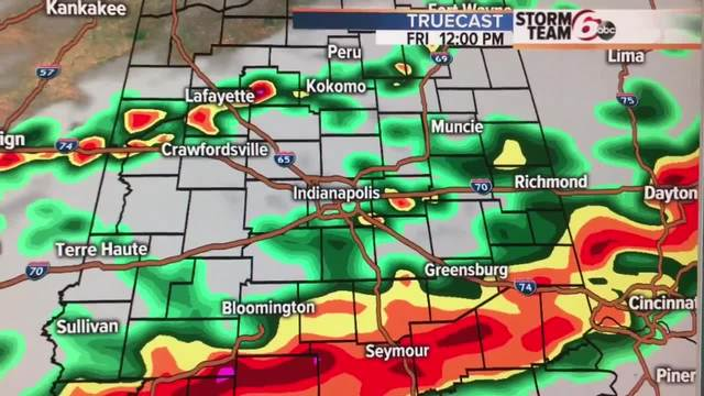 Flood Watch south of Indy. T'Storms developing.