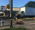 3 hurt in crash that damaged east side business