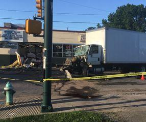 3 hurt in crash that damaged east side business