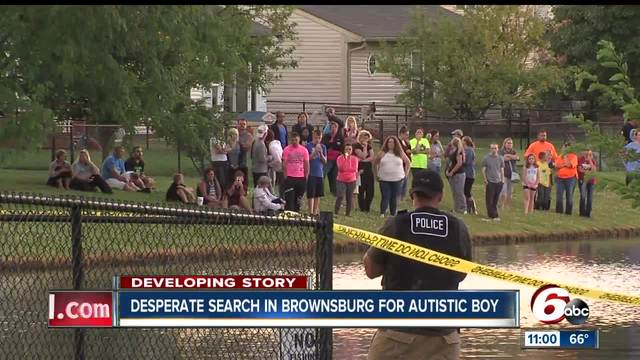 Louisville boy found in pond in Brownsburg, Indiana