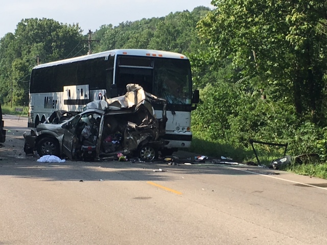 Fatal bus accident north of Bloomington kills two women and man