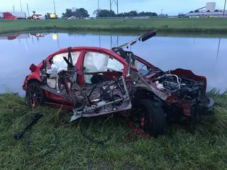 Man ejected after pursuit, crashing into pond