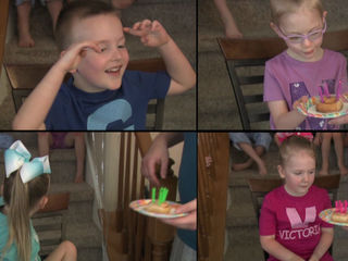 Two sets of twin siblings turn 5