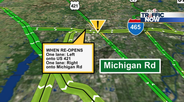 Eastbound I 465 Exit Ramp To Us 421 Michigan Rd To Close Tuesday Night Into Early Wednesday Morning Theindychannel Com Indianapolis In