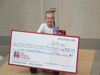 7-year-old donates more than $700 to Riley