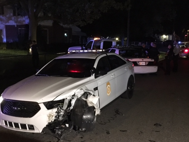IMPD officer hurt in police chase on east side