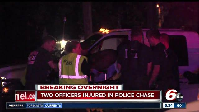IMPD officer injured during pursuit in Fountain Square