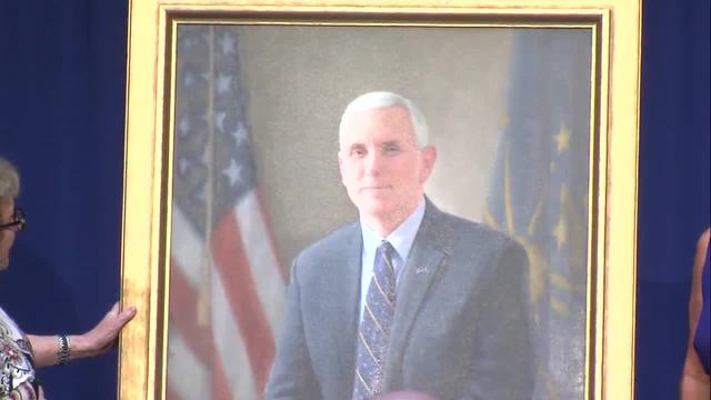 Pence's official governor portrait revealed