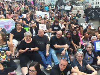 Sit-in for solidarity w/ Charlottesville victims