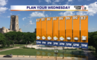 Today: Warm and humid with a few storms