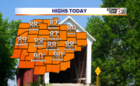 Warm & Dry today, T'Storm chances tomorrow