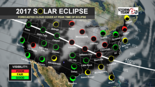 Mix of sun & clouds may hinder eclipse viewing.