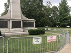 Gate put around Confederate statue at Indy park