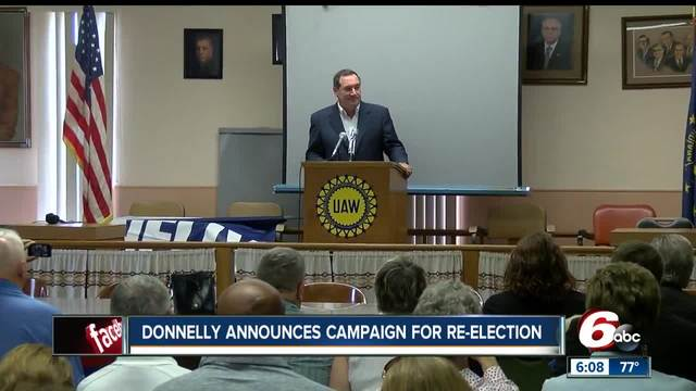 Sen. Donnelly begins re-election campaign, prepares for 'tough' race