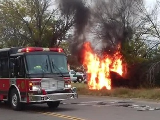 Two teens rescue woman from burning vehicle