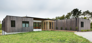 20-acre modern prairie home in Zionsville