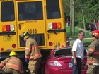 One person injured after bus crash in Columbus
