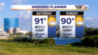 Near record weekend temperatures