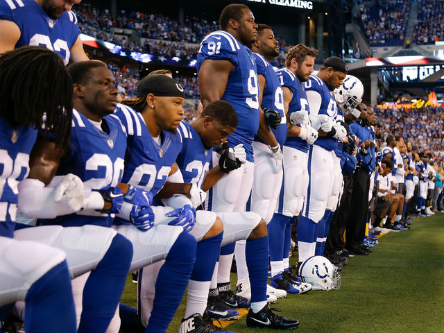 National Football League fans burning team merchandise over anthem protests