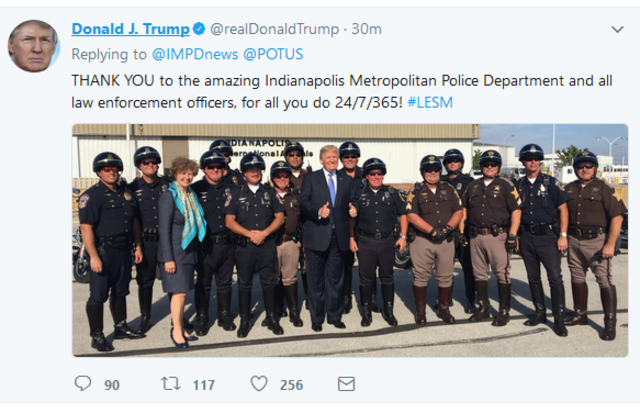 Indianapolis officer injured in president's motorcade gets a call from Pres