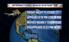 See the International Space Station Friday