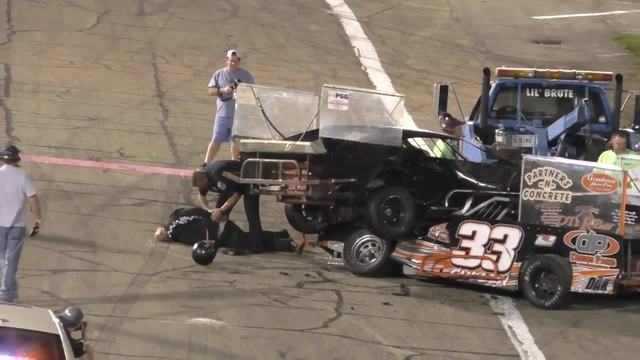 Drivers fight after crash at Anderson- Indiana race
