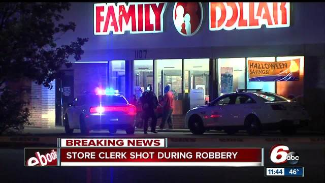 Family Dollar store clerk shot on Indianapolis- east side