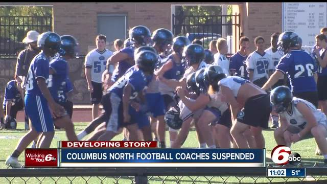Columbus North football coaches suspended for verbal- physical…